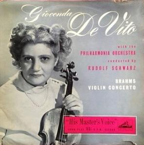 デ・ヴィート De Vito/ブラームス Vn協奏曲 レコード