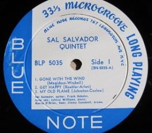 サル・サルヴァドール・クインテット Sal Salvador Quintet / Quartet レコード