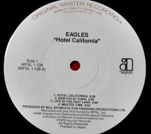 イーグルス EAGLES / Hotel California MFSL プロモ レコード