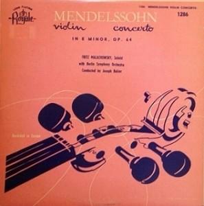 タシュナー Taschner / メンデルスゾーン Vn協奏曲 レコード