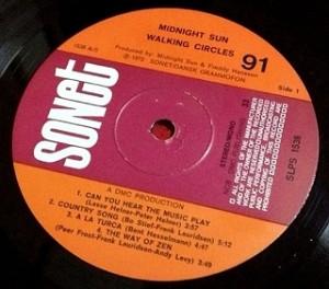 ミッドナイト・サン MIDNIGHT SUN / Walking Circles レコード