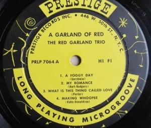レッド・ガーランド Red Garland / A Garland Of Red レコード