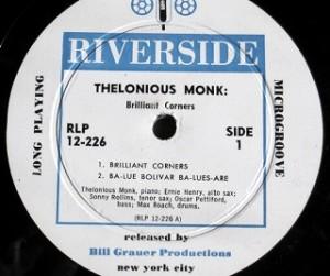 セロニアス・モンク Thelonious Monk / Brilliant Corners レコード