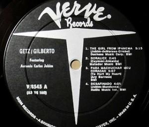 ゲッツ ジルベルト / Getz Gilberto レコード