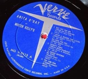 アニタ・オデイ Anita O'day / At Mister Kelly's レコード