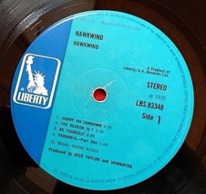 ホークウインド HAWKWIND レコード