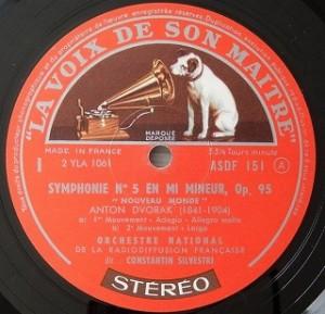 シルヴェストリ / ドヴォルザーク 新世界交響曲 レコード