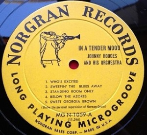 ジョニー・ホッジス Johnny Hodges / In A Tender Mood レコード