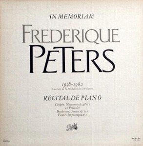 フレデリク・ペータース Frederique Peters / ピアノリサイタル レコード