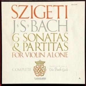 ヨゼフ・シゲティ / バッハ ヴァイオリン無伴奏曲 レコード