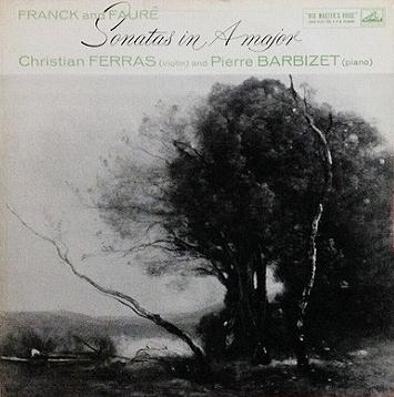 フェラス バルビゼ / フランク & フォーレ ヴァイオリンソナタ レコード