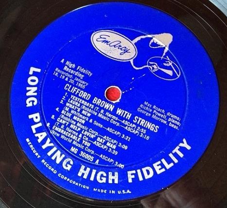 クリフォード・ブラウン Clifford Brown / with Strings レコード