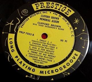 クリフォード・ブラウン Clifford Brown / Memorial レコード