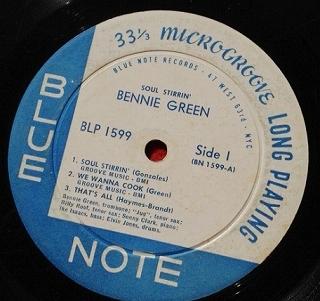 ベニー・グリーン Bennie Green / Soul Stirrin' レコード