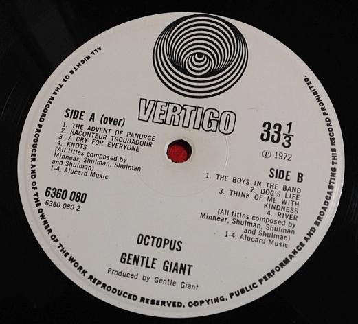 ジェントル・ジャイアント GENTLE GIANT / Octopus レコード