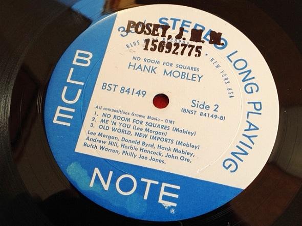 ハンク・モブレー Hank Mobley / No Room For Squares レコード