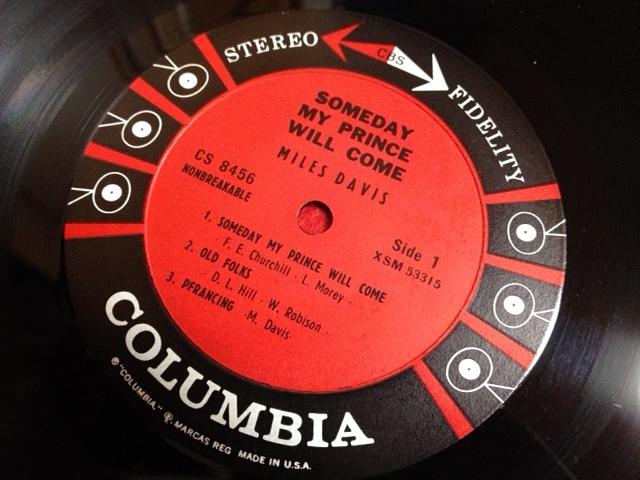 マイルス・デイヴィス Miles Davis / Someday My Prince Will Come レコード