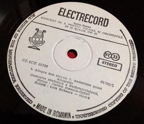 ローラ・ボベスコ/ サンサース レコード