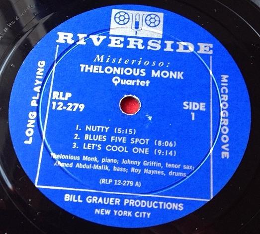 セロニアス・モンク THELONIOUS MONK / Misterioso レコード