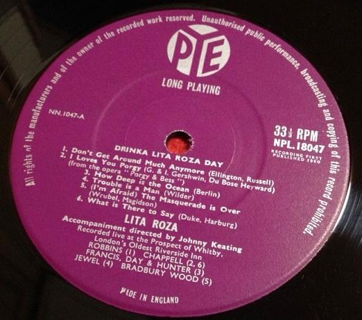 リタ・ローザ / LITA ROZA  DRINKA LITA ROZA DAY レコード