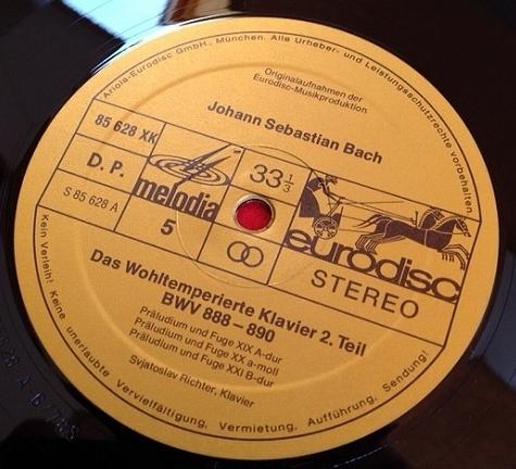 リヒテル / バッハ 平均律クラヴィーア全曲集 1,2巻 レコード