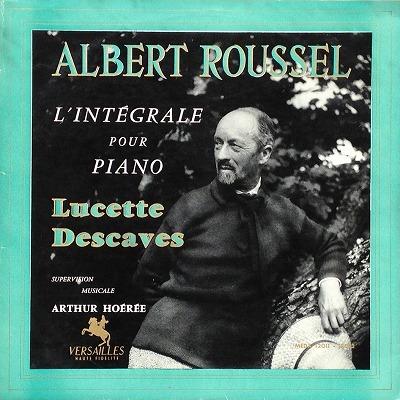 リュセット・デカーヴ / ルーセル ピアノ曲全集 レコード
