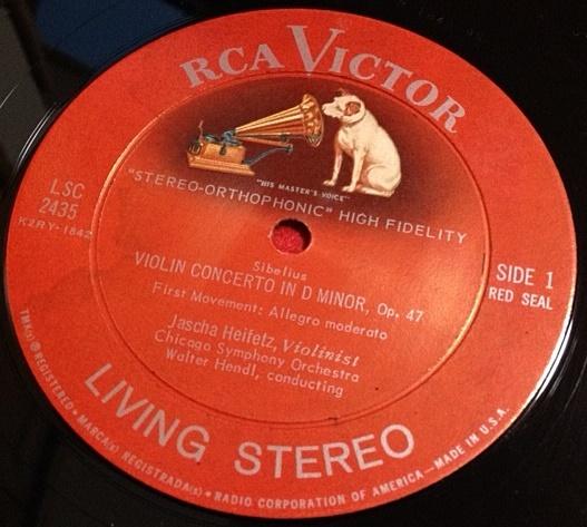 ハイフェッツ / シベリウス ヴァイオリン協奏曲 レコード
