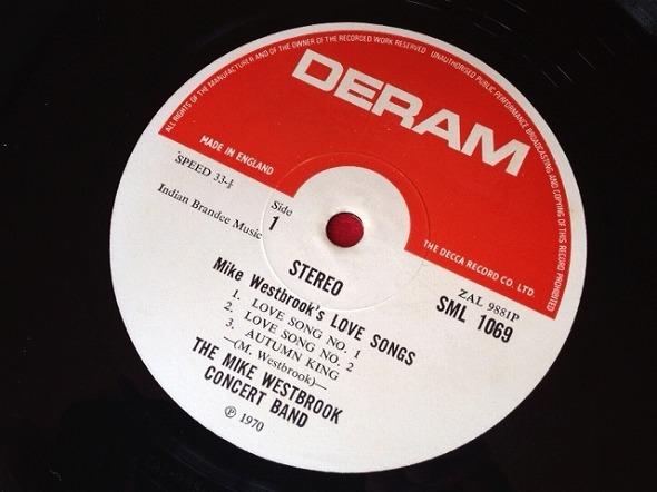 マイク・ウエストブルック MIKE WESTBROOK / Love Songs レコード