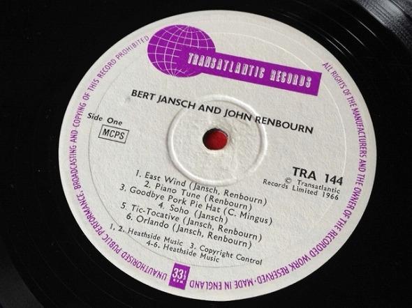 Bert Jansch & John Renbourn / Bert and John レコード