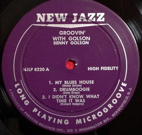 ベニー・ゴルソン Benny Golson / GROOVIN' WITH GOLSON レコード