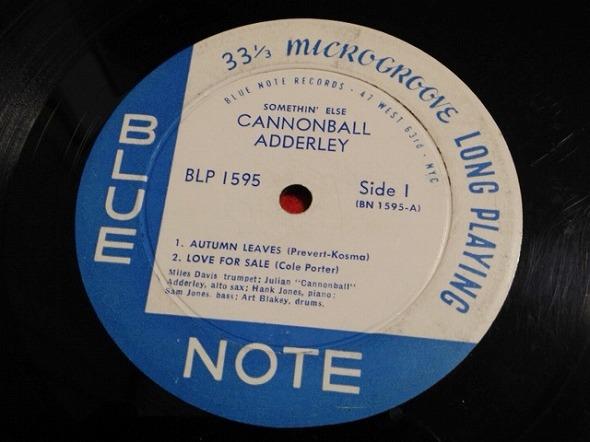 キャノンボール・アダレイ Cannonball Adderley / Somethin' Else レコード